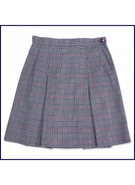 Glen Plaid 2-Pleat Skirt