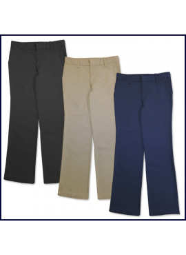 Girls Flat Front Slacks