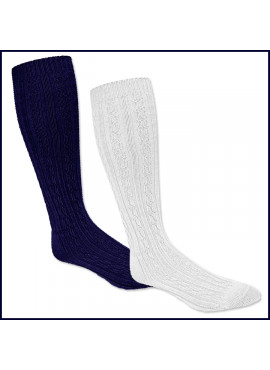 Cable Knee Hi Socks