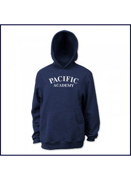 Hooded Sweatshirt with Large Pacific Academy Logo