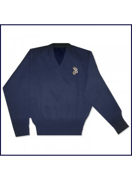 V-Neck Pullover Sweater with SJB Embroidered Logo