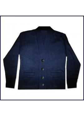 Cardigan Sweater with School Emblem