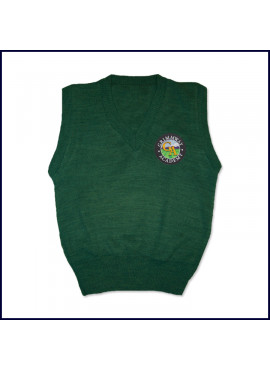 Sweater Vest with School Emblem