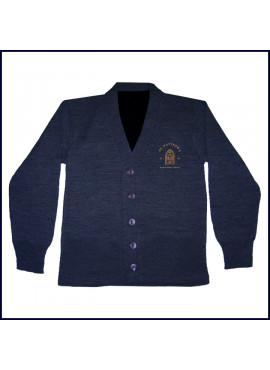 Cardigan Sweater with Embroidered Logo