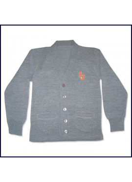 Cardigan Sweater with SJ Embroidered Logo