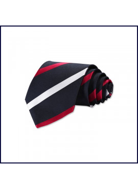 Regimental Striped Self ~ Four-In-Hand Tie